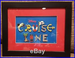 Disney Cruise Line Framed Letter 10 Pin Set Mint