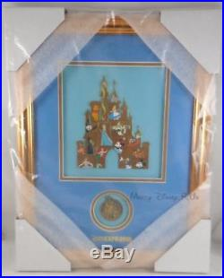 Disney D23 Expo 2015 Castle Mystery Set With Completer 17 Pin Framed LE 100