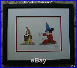Disney LE 5,000 Sorcerer Mickey Mouse Follow Me Sericel Quality Framed