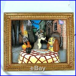 Disney Lady and the Tramp 3D Frame Limited Edition Bella Notte Ian Fraser Art