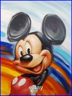 Disney Limited RAINBOW MICKEY numbered Print by Greg McCullough CERTIFIED framed