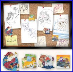 Disney Love Is An Adventure Sketching Our Love Framed Pin Set Stitch Lion King