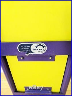Disney Mickey DVD Display Rack Wolfe Solid Metal Frame Purple Yellow 30 in Tall