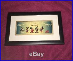 Disney Mickey Mouse Millennium 2000 Six Pin Framed Set