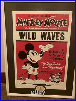 Disney Mickey Mouse Poster with Walt Name Pin