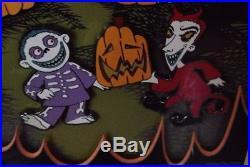 Disney Nightmare Before Christmas LE 500 Framed Jumbo Pumpkin Pin Set Jack Sally