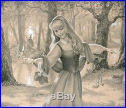 Disney Original Edson Campos Sleeping Beauty One Fine Day Artwork 1 Of 1 Framed