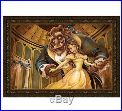 Disney Parks Beauty and The Beast Ballroom Beauty Framed Canvas Darren Wilson
