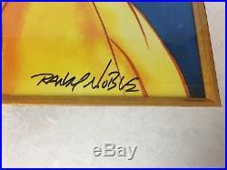 Disney Parks Belle Beauty and the Beast Framed Giclee 8/95 COA Randy Noble