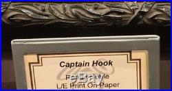 Disney Parks Captain Hook Frame LE Giclee by Randy Noble New