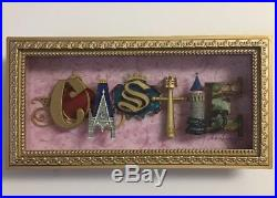 Disney Parks Castle Icon Letters Shadow Box Frame by Dave Avanzino NEW