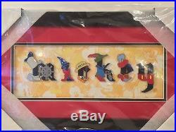 Disney Parks Disney Pin Mickey Mouse Through the Years Framed Letter 6 Pin Set