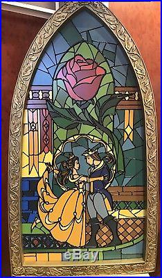 Disney Parks Exclusive Beauty And The Beast Stained Glass Window Frame