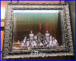 Disney Parks Haunted Mansion Hitchhiking Ghosts Framed Mirror New 25 x 21