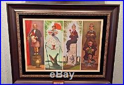 Disney Parks Haunted Mansion Stretching Room Portraits Framed Giclee New in Box