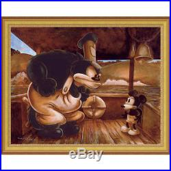 Disney Parks Mickey In A Bind Gold Frame Giclee by Darren Wilson New