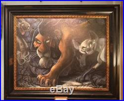 Disney Parks The Lion King Scar and Crew LE Framed Giclee by Darren Wilson New