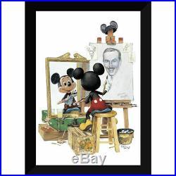 Disney Parks Walt Disney Self Portrait Framed Giclée by Charles Boyer New
