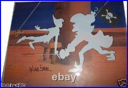 Disney Peter Pan Duels Capt Hook Jolly Roger Disney Cel Sericel signed Davis
