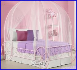 Disney Princess Bed Frame Carriage Little Girls Pink Twin Bedroom Cinderella New