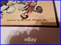 Disney Reproduction poster of Pinocchio Walt Disney Gallery Framed
