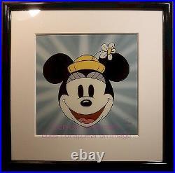 Disney Sericel Here's Minnie Mouse Cel 1930 Title Cards Original Disney Frames