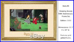 Disney Sleeping Beauty 60th Anniversary Framed Pin Set, LE 1000 (Pre-Sale)