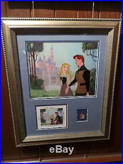 Disney Sleeping Beauty Wandering Dreams Cel Framed with Signed Card and Pin