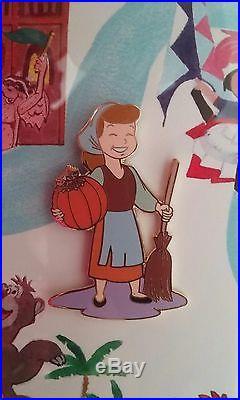 Disney Small World Magical Transformation Framed Set Cinderella Limited LE Pin