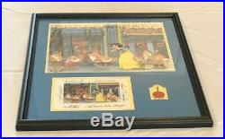Disney Snow White Look what I got! Hand Painted Animation Cel Framed Signed Pin