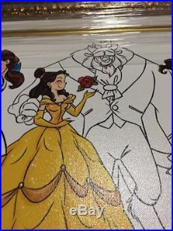 Disney Store Art Of Belle Framed Art Giclee LE 150