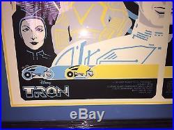 Disney TRON Legacy Sideshow Framed Glow-in-the-Dark Print by Eric Tan 36/140
