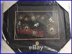 Disney Twilight Zone Tower Of Terror Twilight Scare Framed Pin Set Le 100 Sealed