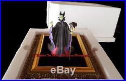 Disney Villains Event 2000 Maleficent & Diablo Figurine In Picture Frame Mib