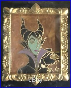 Disney Villains Portrait Frame Complete 9 Pin set Three 3 Pin sets New on Card