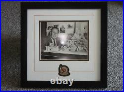 Disney Walt Photo with Pin Framed Set LE 250 50 years of Magical Memories COA
