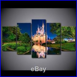 Disney World Cinderella's Castle 5 Piece Canvas Print Wall Art