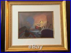 Disney's, Ltd Ed Hand Painted Cel, Chaos in Dresser Drawer, framed