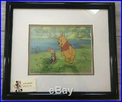 Disney's Winnie The Pooh Tv Original Production Cel-pooh And Piglet (framed)