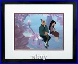 Disney sericel Mulan cel Beautiful Blossom Brand New Frame & Plexiglas