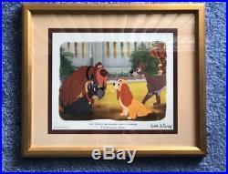 Disneyana Lady and the Tramp Vintage 1950's Very Rare Disney Print Framed