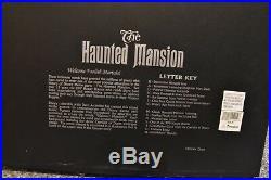 Disneyland Dave Avanzino HAUNTED MANSION Letters Shadowbox Rare