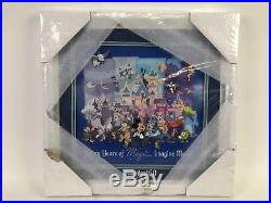 Disneyland Diamond Celebration Event 60th Sixty Years of Magic Framed Pin Set