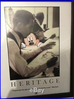 Disneyland Disney Parks Heritage Framed Print Walt Disney and Mickey Mouse 2006
