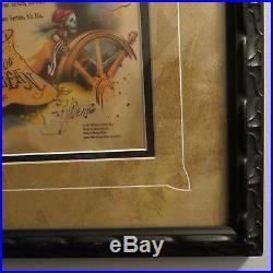 Disneyland Framed Pirates of Caribbean Yo Ho Signed Scroll Xavier Atencio Ltd Ed