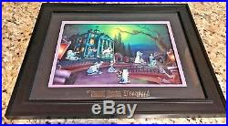 Disneyland Haunted Mansion LE 100 Framed Pin Set Nuptial Doom by Ron Cohee