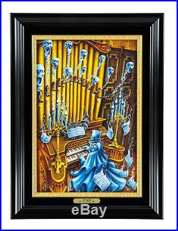 Disneyland Haunted Mansion The Organist LE Framed Giclle by Craig Fraser New