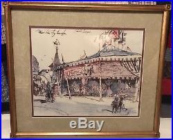 Disneyland Hotel Framed Concept Print Peter Pan Fly Through Herb Ryman FREE SHIP