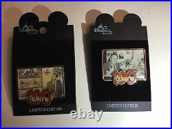 Disneyland LE Walts 100th Birthday Framed Photo Set Plus Character Tribute Pins