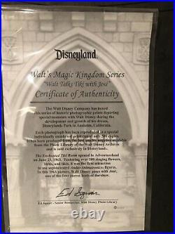 Disneyland Walts Magic Kingdom Series Walt Talks Tiki With Jose Framed. 17x15